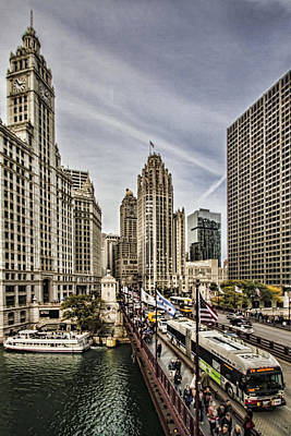 Wrigley Building And Mag Mile Art Print by Sven Brogren