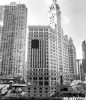 Wrigley Building Chicago Art Print by Mike Maher