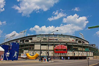 Photograph - Wrigley Field And Clouds by John McGraw