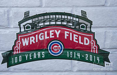 Photograph - Wrigley Field At 100 by David Bearden