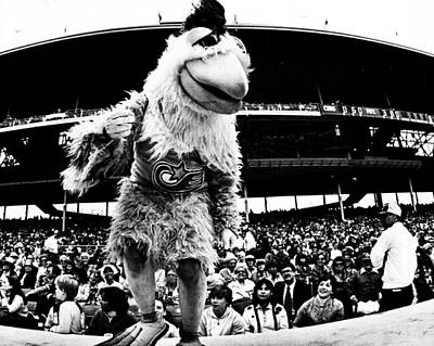 Wrigley Field Chickenman  Art Print by Retro Images Archive