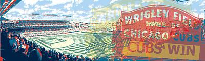 Wrigley Field Digital Art - Wrigley Field by David Holm