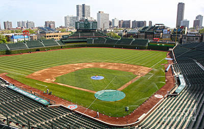 Photograph - 100 Years Old -- Wrigley Field In Green by David Bearden