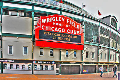 Lakeview Photograph - Wrigley Field by Jack Schultz
