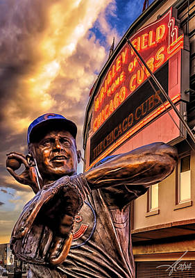 Wrigley Field Digital Art - Wrigley Field Legend by Anthony Citro