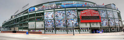 Friendly Confines Photograph - Wrigley Field On Clark by David Bearden