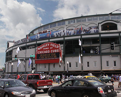 Fanatic Photograph - Wrigley Field by Paul Anderson