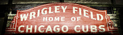 Friendly Confines Photograph - Wrigley Field Sign - No.2 by Stephen Stookey