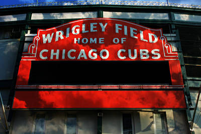 Lets Play Photograph - Wrigley Field Sign -- No.1 by Stephen Stookey