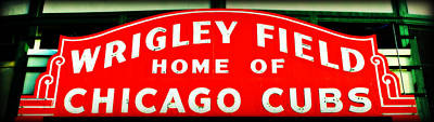 Lets Play Photograph - Wrigley Field Sign by Stephen Stookey