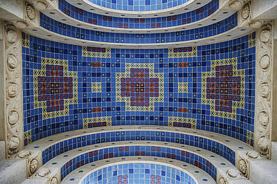 Photograph - Wrigley Memorial Tile Closeup by Lee Kirchhevel