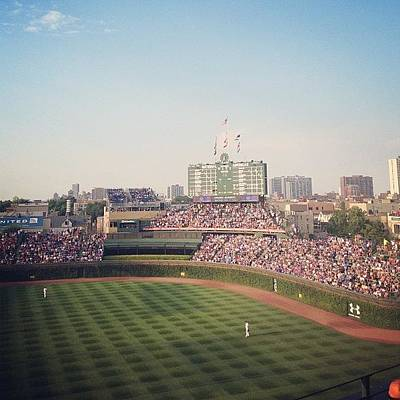 Baseball Photograph - Wrigley by Mike Maher