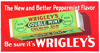 Peppermint Digital Art - Wrigley's Double Mint Chewing Gum by Woodson Savage