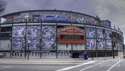 Clark Street Photograph - Wrigley's New Wallpaper by David Bearden
