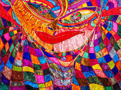 Painting - Wrinkled Princess - Abstract Face by Marie Jamieson