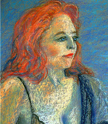 Painting - Writer And Singer Contemplating by Asha Carolyn Young