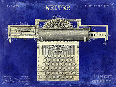 Typewriter Photograph - Writer by Jon Neidert