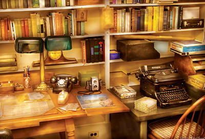 Photograph - Writer - The Desk Of A Writer  by Mike Savad