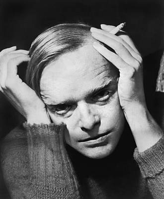 Head And Shoulders Photograph - Writer Truman Capote by Roger Higgins