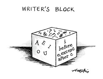 O Drawing - Writer's Block by Henry Martin