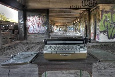 Antique Typewriter Photograph - Writers Block by Jane Linders