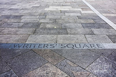 Photograph - Writers' Square by Jim Orr
