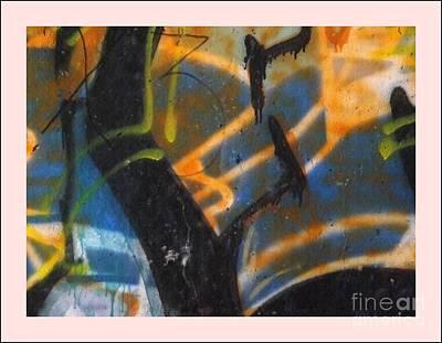 Writing On The Wall 2 Art Print by Sara  Raber