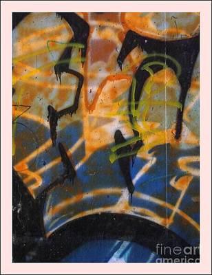 Writing On The Wall 3 Art Print by Sara  Raber