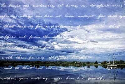 Writing On The Water Print by Alice Gipson