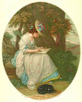 Writing Poetry 1781 Art Print by Padre Art