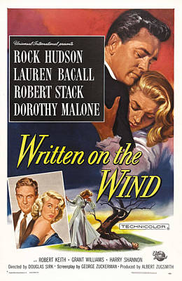 Bacall Photograph - Written On The Wind, Us Poster Art, Top by Everett