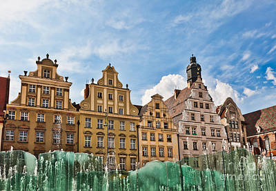 Slavic Photograph - Wroclaw Fountain At The Town Square by Frank Bach