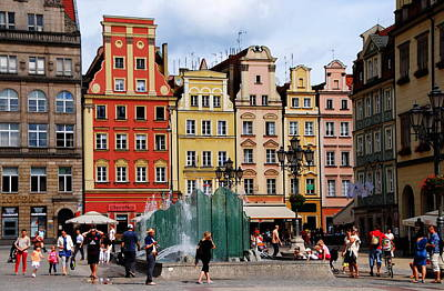 Wroclaw Old Town In Poland Art Print by Jacqueline M Lewis