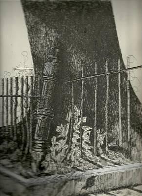 Painting - Wroght Iron Oak by Michael Hoard