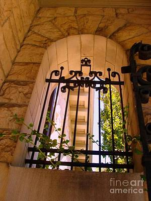 Photograph - Wrought Iron Arch Window 1 by Becky Lupe
