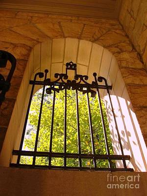 Photograph - Wrought Iron Arch Window by Becky Lupe