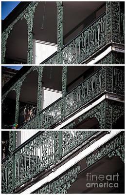 Photograph - Wrought Iron Balcony Panels by John Rizzuto