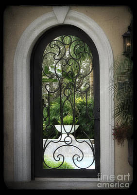 Photograph - Wrought Iron Door by Ella Kaye Dickey