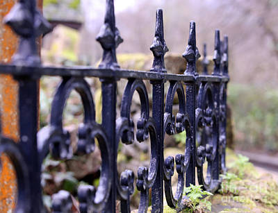 Photograph - Wrought Iron Fence 1 by Kate Purdy