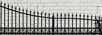 Photograph - Wrought Iron Fence by Ethna Gillespie