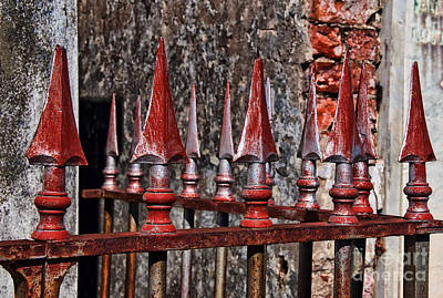 Photograph - Wrought Iron Fence Spears by Kathleen K Parker