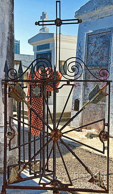 Photograph - Wrought Iron Gate And Marie Laveau New Orleans by Kathleen K Parker