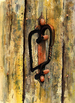 Painting - Wrought Iron Handle by Sam Sidders