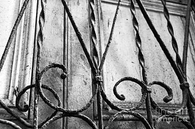 Photograph - Wrought Iron In Casco Viejo Mono by John Rizzuto