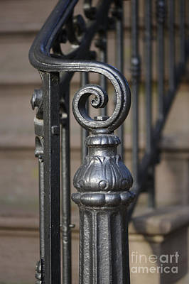 Photograph - wrought Iron Newel Post 2 by Nancy Greenland