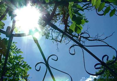 Photograph - Wrought Iron Sunbeams by Christine Nichols