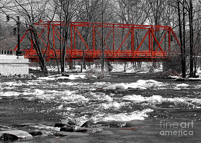 Wall Art - Photograph - Wrought Iron Truss Bridge by Susan Montgomery