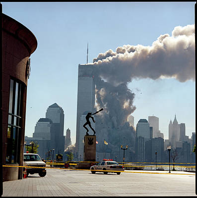 9-11 Wall Art - Photograph - Wtc Attacks September 11, 2001 by Katja Heinemann