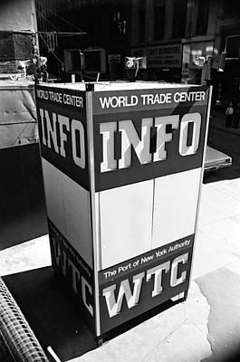 Wtc Info Sign Art Print