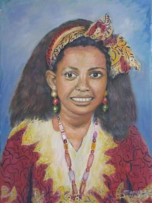 Painting - Wubayehu by Samuel Daffa